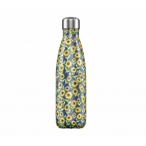 Botella Isotérmica Chilly's Bottle Edición Floral Girasoles 500 ml