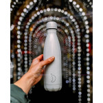 Botella Isotérmica Chilly's Edición Glitter Blanca 500 ml