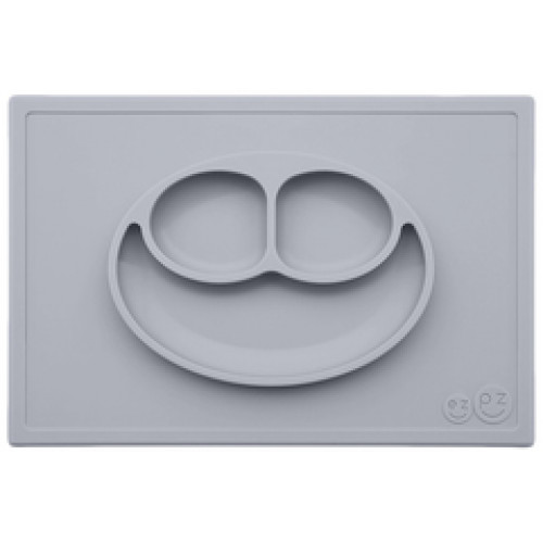 Plato Happy Mat Pewter (gris claro)