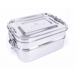 Bento Box Acero Inoxidable doble mediano (600+750 ml)